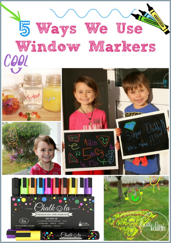 5 Ways We Use Window Markers to keep the kids busy and the wildlife safe. CastleViewAcademy.com