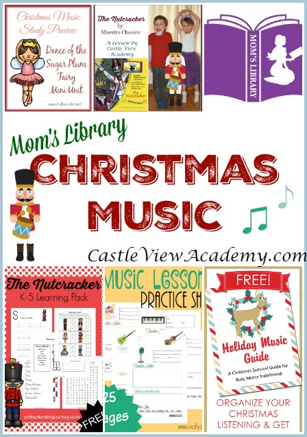 Christmas Music on Mom's Library with CastleViewAcademy.com