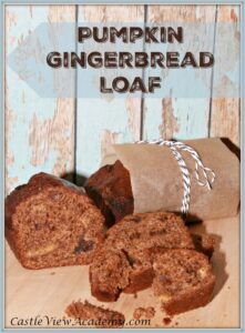 Autumn flavours are all around us now! There's nothing better than some fresh baking to fill the house with a feeling of warmth and love. Pumpkin Gingerbread Loaf by CastleViewAcademy.com