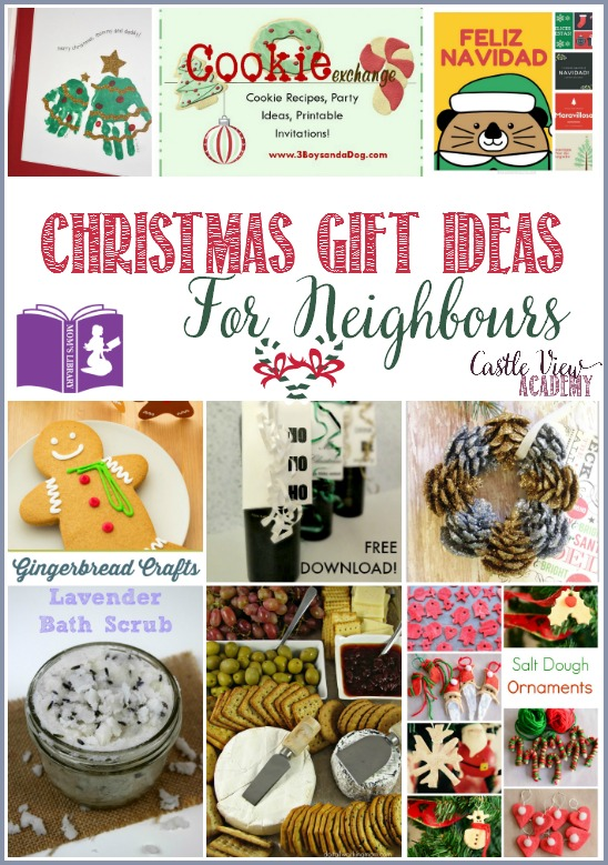 Christmas gift ideas for neighbours on Mom's Library with Castle View Academy
