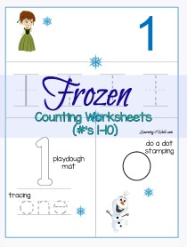 Frozen-Counting-Worksheets