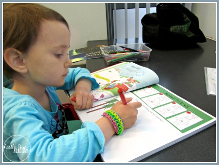 Keeping busy at the library with a Christmas activity book