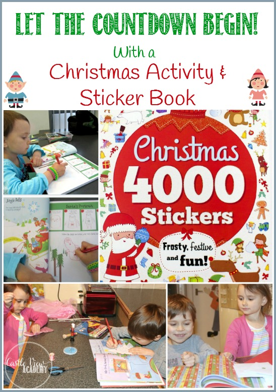 Let the countdown to Christmas begin with a fun activity and sticker book by Parragon. Castle View Academy tries it out - see how it's going