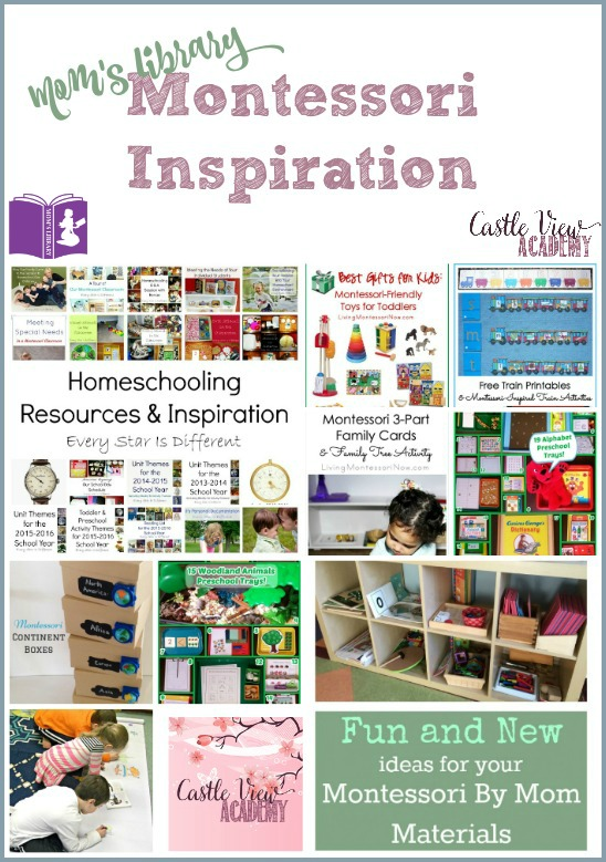 Montessori Inspiration on Mom's Library with Castle View Academy