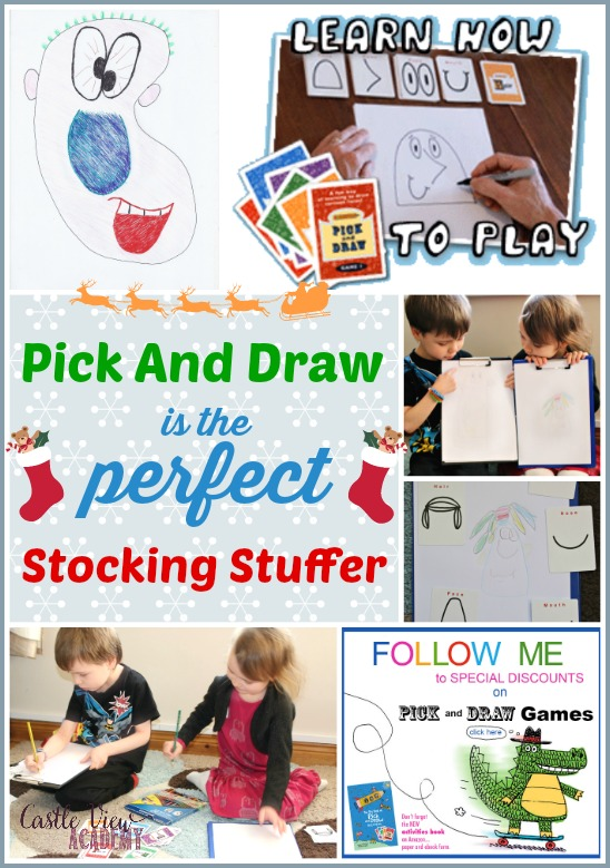 Pick and Draw is the perfect stocking stuffer for all ages!