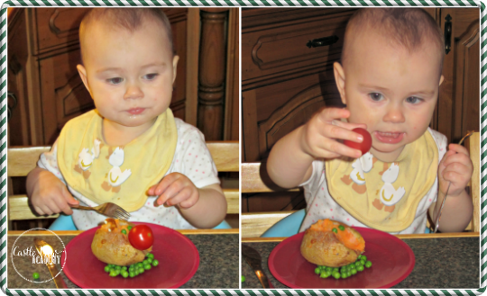 Rudolph baked potatoes make for fun festive Christmas foods for toddlers at Castle View Acdemy