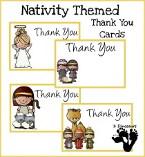 nativity thank you cards