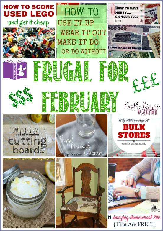 9 Ways to go Frugal For February with Mom's Lirary at Castle View Academy