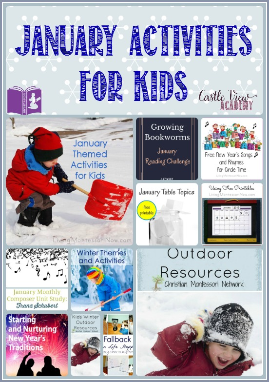 January activities for kids on Mom's Library with Castle View Academy