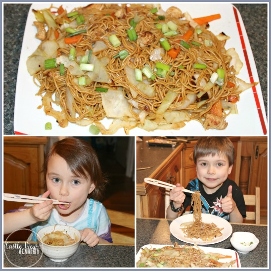 Pancit from the Philippines is now a favourite food for the kids