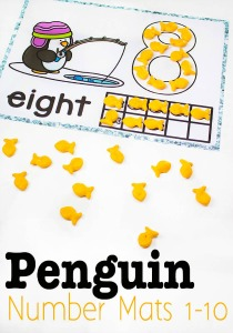 Penguin-number-mats-1-10