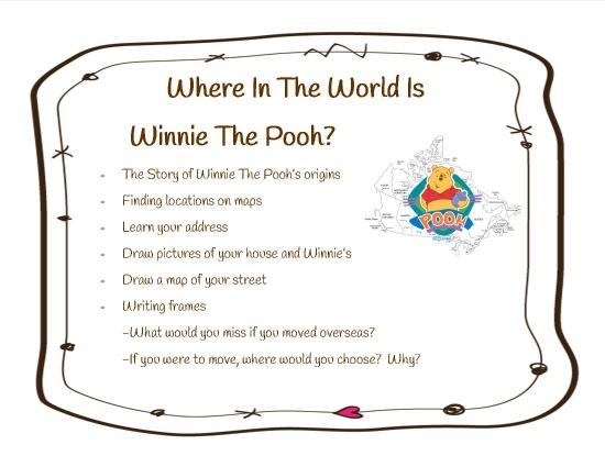 Where in the world is Winnie the Pooh cover