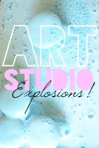 Art Explosions, with baking soda and vinegar