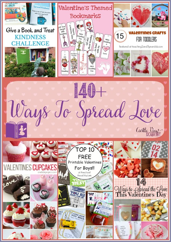140 Ways to spread love this Valentine's Day with Mom's Library at Castle View Academy