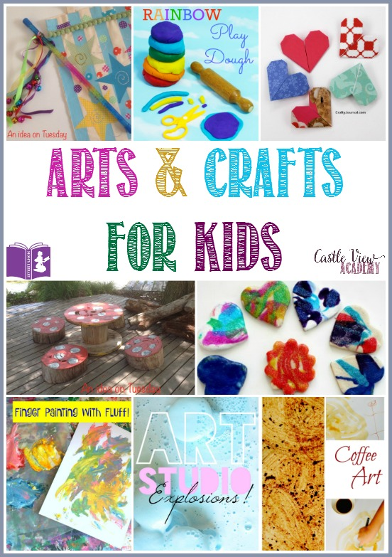 Arts & Crafts for Kids on Mom's Library with Castle View Academy. Great year-round crafts for kids and parents