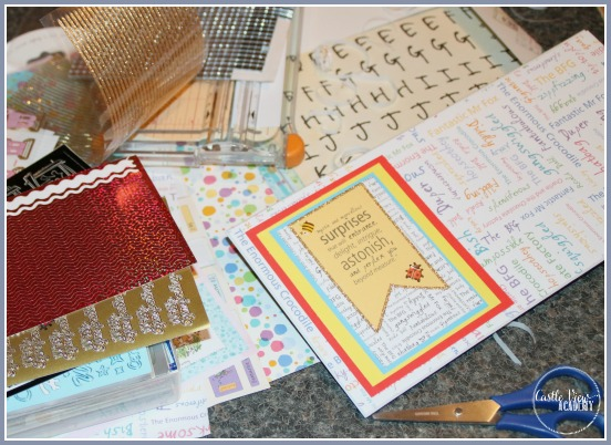 Scrapbooking supplies are perfect for library crafts at Castle View Academy