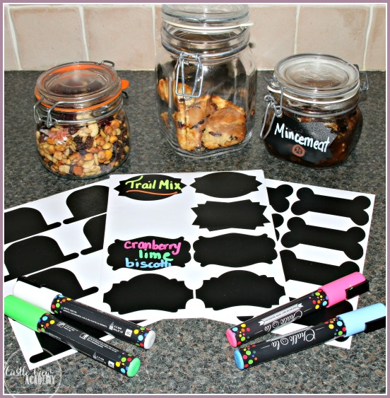 Chalk markers are great for labeling jars in the kitchen