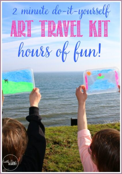 Create art on the go with this diy art travel kit for kids using chalk markers and they'll have hours of fun like CastleViewAcademy
