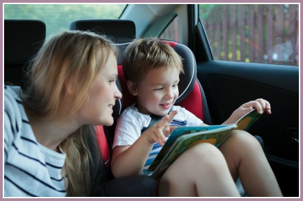 Create little readers by talking about books in daily life