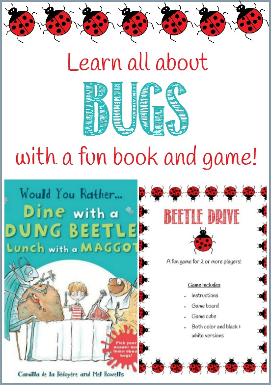 Learn all about bugs with a fun book and a beetle drive game free printable by CastleViewAcademy