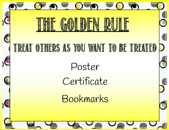 graphic regarding Golden Rule Printable named The Golden Rule with Printable Certification Castle Feeling Academy