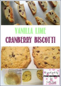 Vanilla Lime Cranberry Biscotti, a guest post by FinchWren for CastleViewAcademy They have a very light and delicate flavor and are a perfect addition to tea time or afternoon coffee!