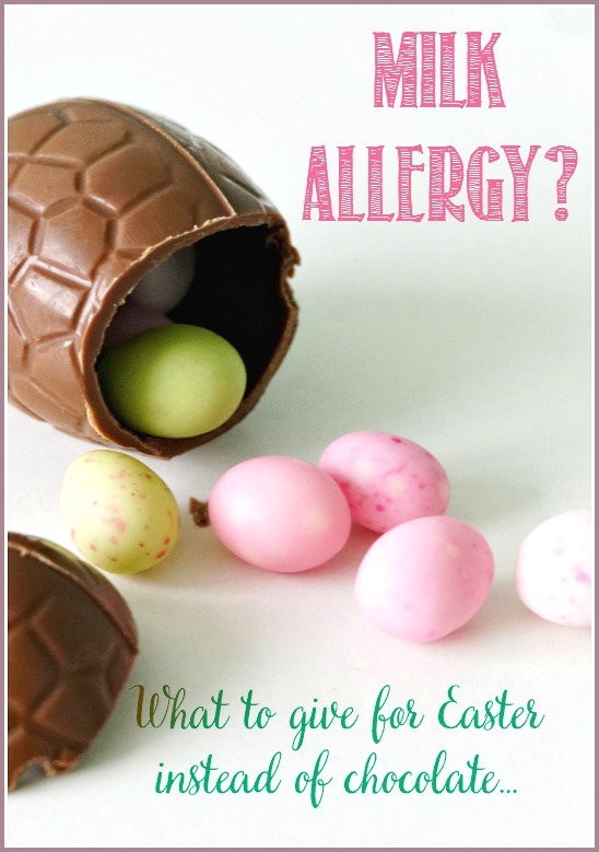 What to give kids at Easter when they have a milk allergy. A fun list by CastleViewAcademy. We know...we're right there with you...