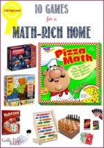 10 Math Games For a Math-Rich Home