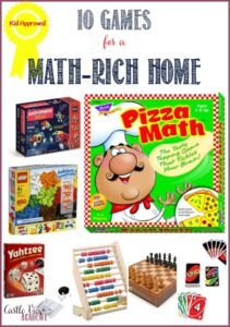 10 games for a math-rich home that are kid-approved by Castle View Academy