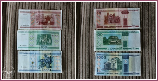 Bank notes from Belarus are interesting for kids to see at CastleViewAcademy