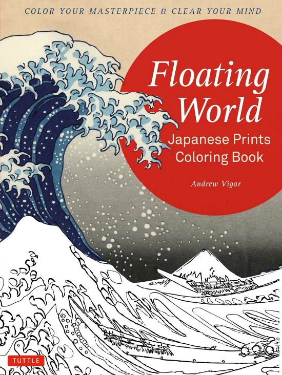 Color your masterpiece and clear your mind with Floating world Japanese Prints coloring book