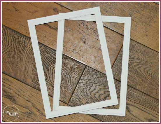 Frames ready for hanging in our diy kids art gallery at CastleViewAcademy