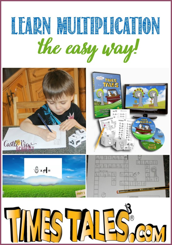 Learn multiplication the easy way with with Times Tales and CastleViewAcademy The NO TEARS method!
