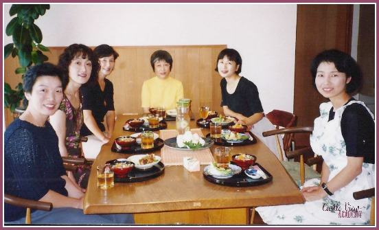 My Japanese Cooking Class in Toyama in 2002. Such wonderful memories and they gave me the basic skills that I use now at Castle View Academy