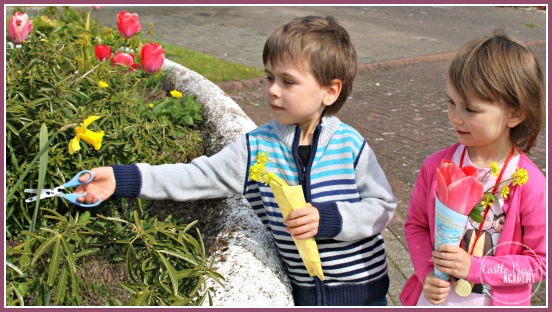 Spring boquet as a pay-it-forward for kids at Castle View Academy