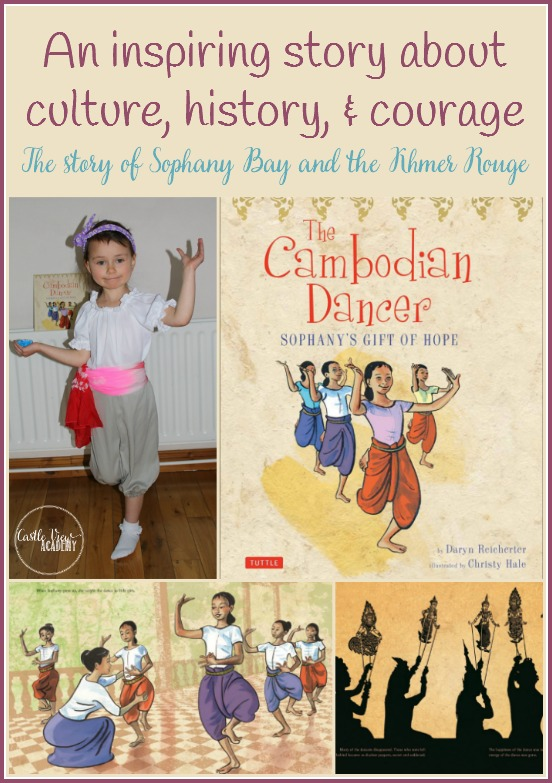 The Cambodian Dancer Sophany's Gift of Hope is an inspiring story about culture,history, and courage. The story of Sophany Bay and the Khmer Rouge. A review by Castle View Academy