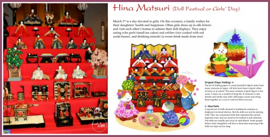 Hina Matsuri Doll Festival as a Japanese tradition explained by Tuttle Publishing for Castle View Academy