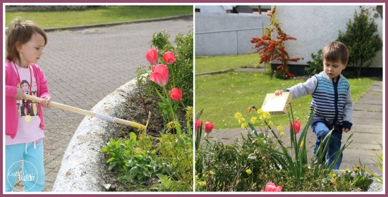 Planting poppies and wildflowers at Castle View Academy. It's fun to learn about nature and make the world beautiful