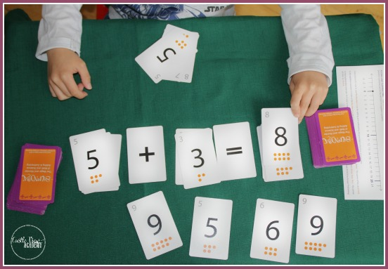 Sunya math card game at Castle View Academy