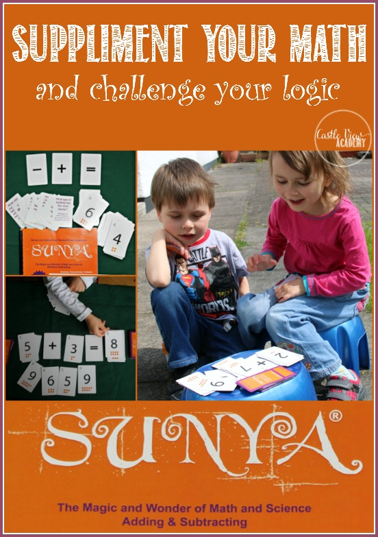 Suppliment your math skills and challenge your brain with questions of logic with Sunya Publishing, Reviewed by Castle View Academy