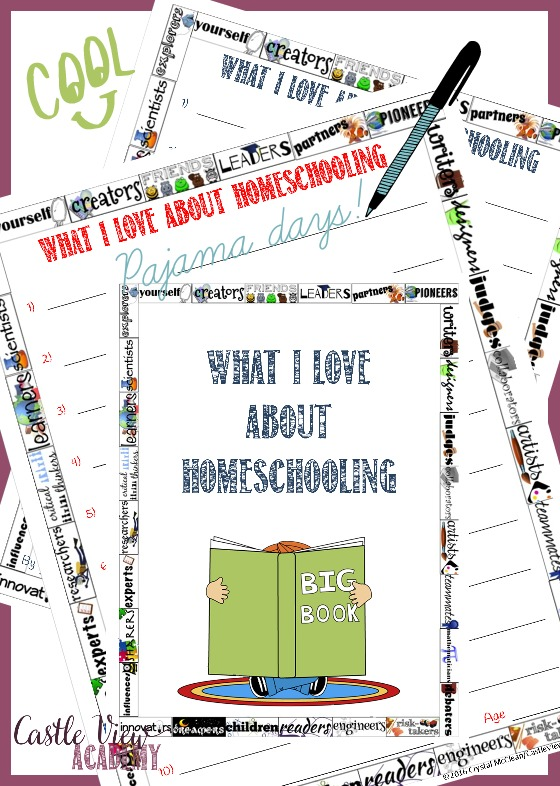 What I love about homeschooling by Castle View Academy