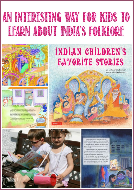 An interesting way to learn about India's folklore with Indian Children's Favorite Stories and a Dhal Drum Craft at Castle View Academy