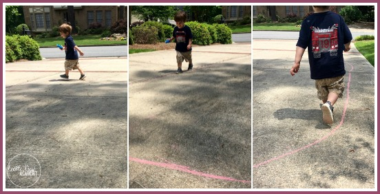 Creating a track in your driveway for the Summer Olympics with Castle View Academy and Days With Grey