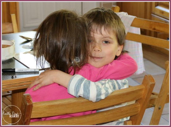 Finding comfort in a brother's hug at Castle View Academy