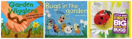 Garden bug books for kids