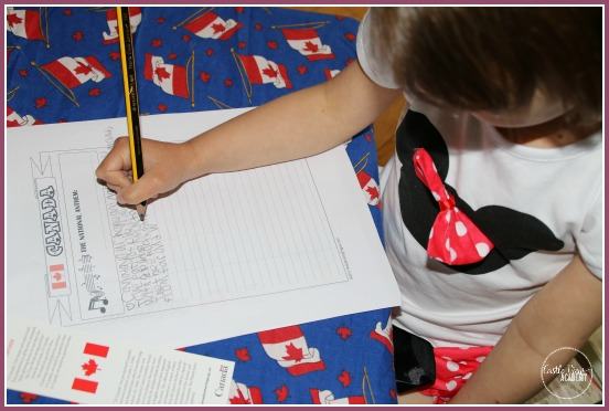 Notebooking Pages to learn about Canada at Castle View Academy