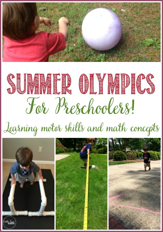 Summer Olympics for Preschoolers; learning motor skills and math concepts with Castle View Academy