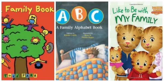 Toddler books about family
