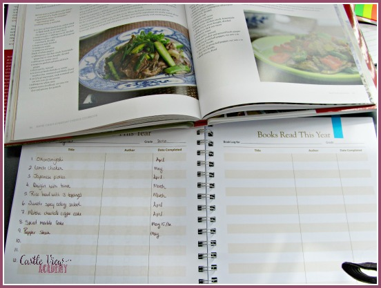 Using my Hey Mama! planner as a recipe log at Castle View Academy