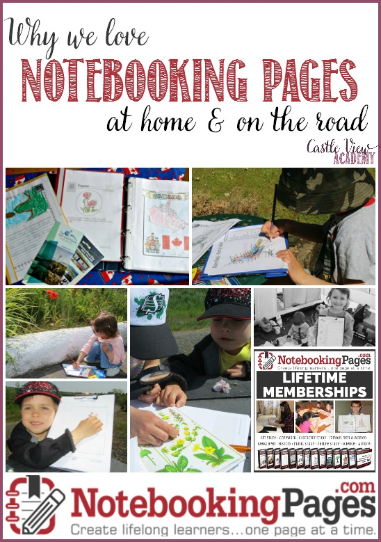 Why Castle View Academy loves NotebookingPages at home and on the road
